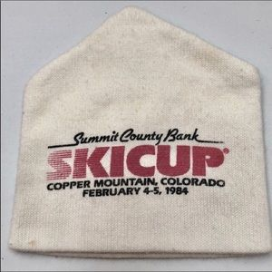 Vintage 1984 Ski Competition Beanie Ski Cap